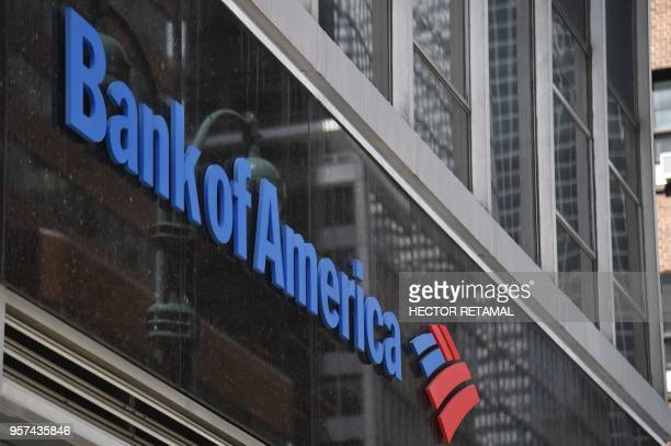 A sign for Bank of America is seen on 3rd Avenue in New York City on May 11 2018