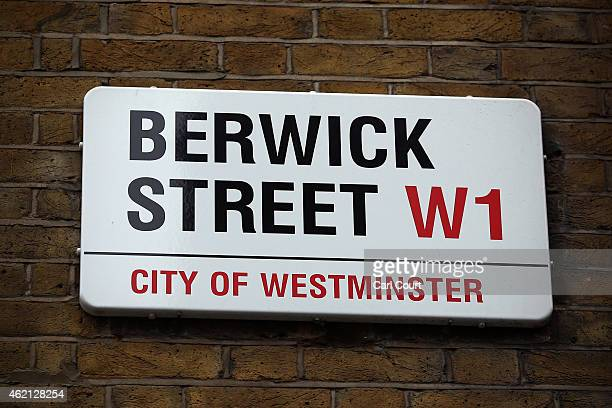 A sign for Berwick Street in Soho is seen on January 21 2015 in London England A growing number of campaigners including Stephen Fry are pushing...