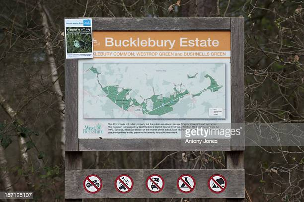 Sign For Bucklebury Farm Park In The Village Of Bucklebury, Berkshire, United Kingdom, The Home Village Of Kate Middleton'S Parents Michael And...