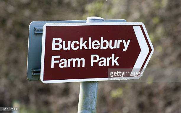 Sign For Bucklebury Farm Park In The Village Of Bucklebury Berkshire United Kingdom The Home Village Of Kate Middleton'S Parents Michael And Carole...