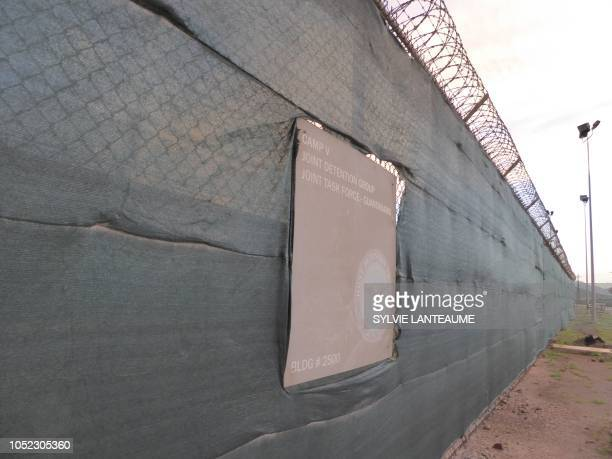 A sign for Camp V is seen at the US Guantanamo Naval Base on October 16 in Guantanamo Base Cuba The Guantanamo prison which houses detainees accused...