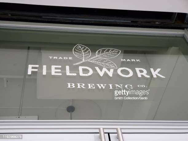 Sign for Fieldwork Brewing Company, a microbrewery in San Ramon, California, November 30, 2019.
