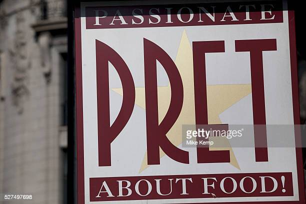 Sign for food chain Pret a Manger