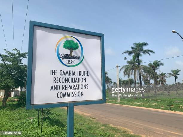 A sign for Gambias Truth Reconciliation and Reparation Commission in Banjul Gambia The commission was launched after former Gambian President Yahyah...