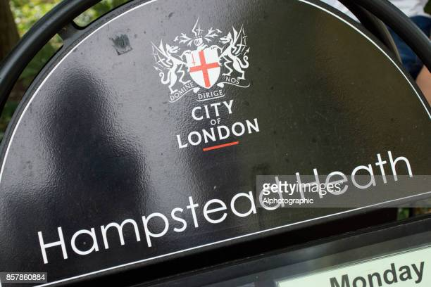 Sign for Hampstead Heath