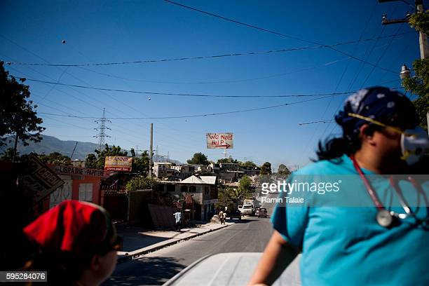 A sign for 'help' is seen in the streets of PortauPrince Haiti on January 30 2010 The January 12 earthquake that hit Haiti killed about 170000 people...