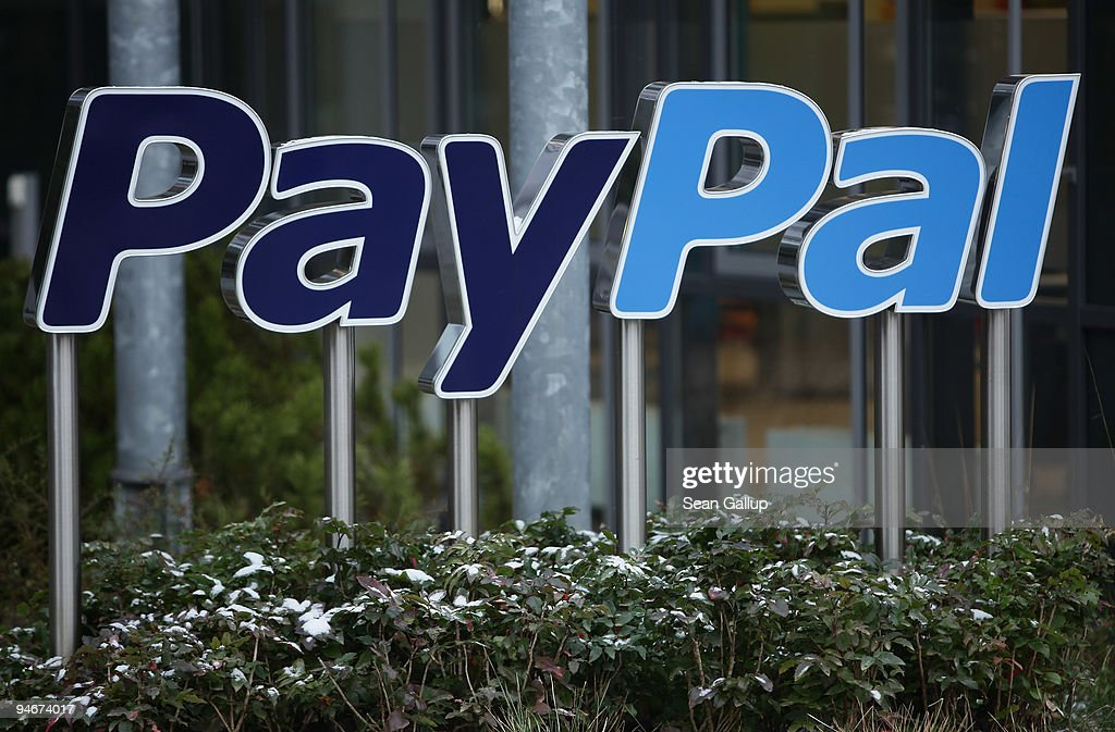 A sign for Internet payment transaction portal PayPal stands outside the eBay Germany headquarters on December 17, 2009 in Kleinmachnow, Germany. The German service industry labour union ver.di has announced that eBay is to fire 400 of the 630 employees at the Kleinmachnow center. PayPal belongs to eBay.