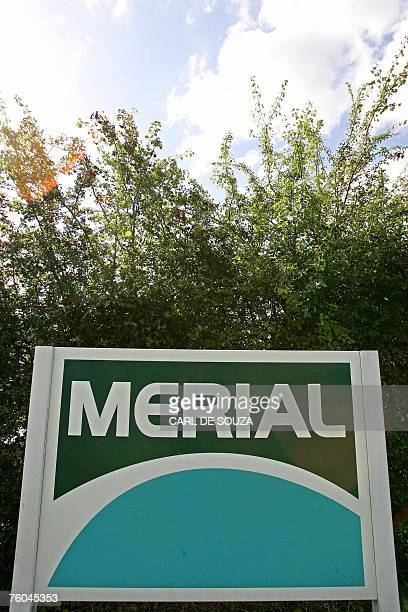 A sign for livestock vaccine manufacturer Merial is pictured in Pirbright Surrey in southeast England 08 August 2007 A probe into Britain's foot and...