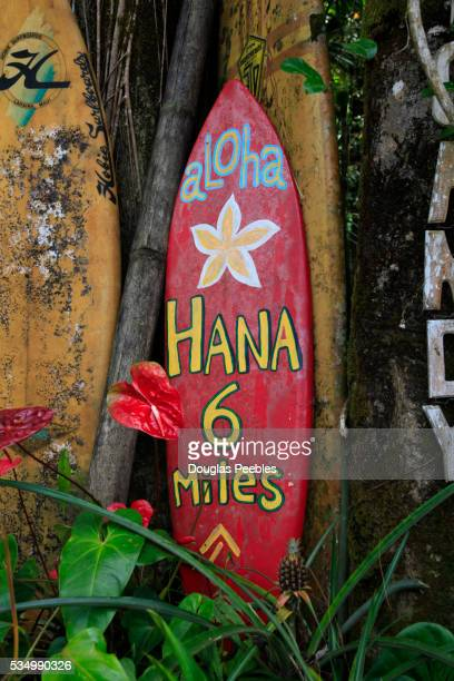 Sign for Nahiku roadside market, Hana Coast, Maui, Hawaii