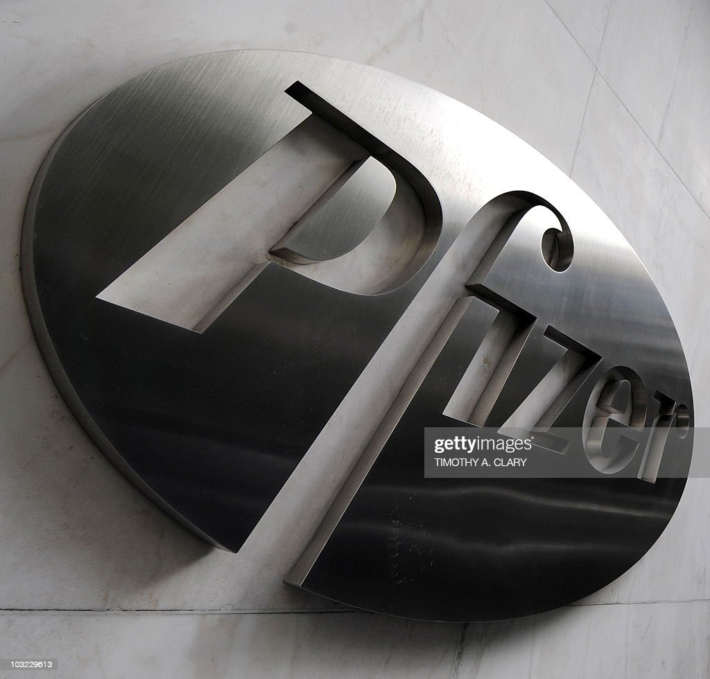 A sign for pharmaceutical company Pfizer Incorporated
