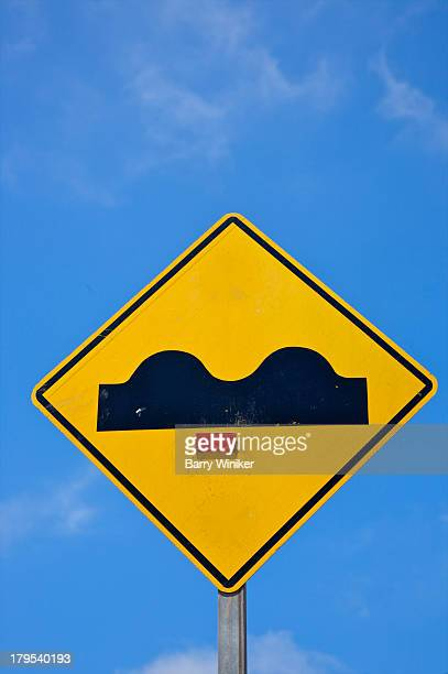 Sign for 'sleeping policemen' or bumps in road