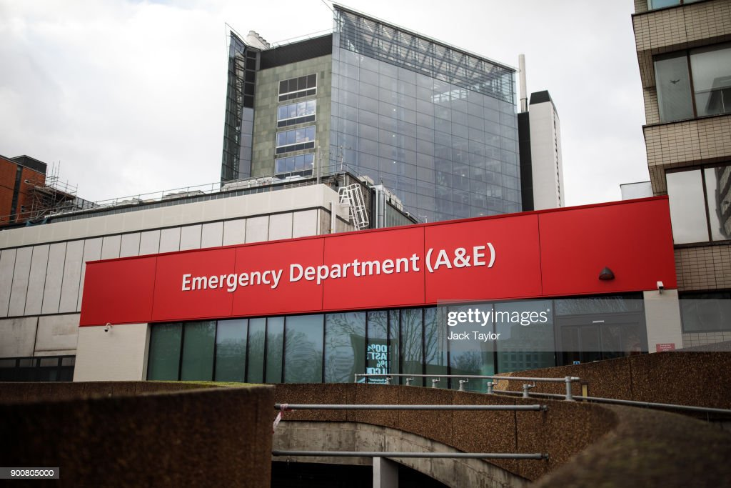 A sign for the Accident and Emergency department sits outside Guy's and St Thomas' Hospital on January 3, 2018 in London, England. Hospitals in the UK have been advised to postpone all non-urgent operations until the end of January as the NHS struggles to cope with the surge in patients over the winter period.