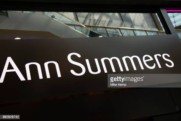 Sign for the adult goods and lingerie brand Ann Summers in Birmingham United Kingdom