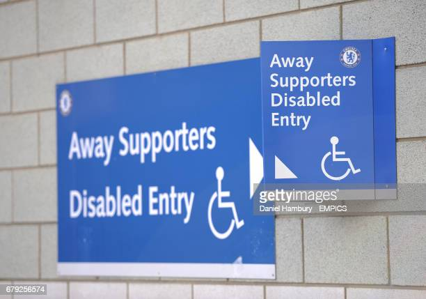 handicap entrance sign stock photos and pictures getty images