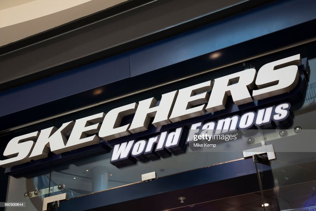 Sign For Shoe Shop Brand Trainers Shop Skechers : News Photo