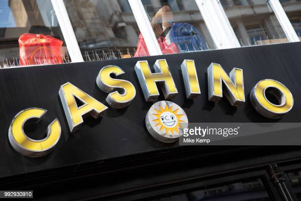 Sign for the gambling brand Cashino in Birmingham United Kingdom