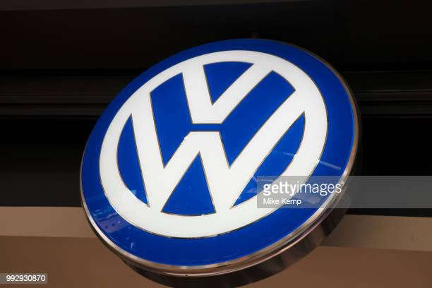 Sign for the German car manufacturer VW in Birmingham United Kingdom