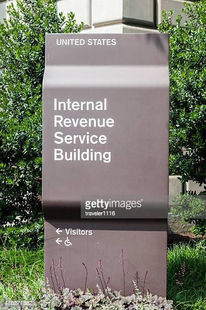 sign for the internal revenue service in washington dc, usa - irs stock photos and pictures
