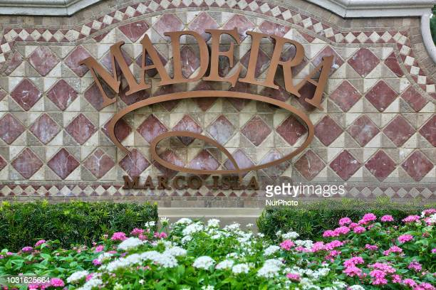 Sign for the Madeira luxury condominium on Marco Island, Florida, USA, on August 31, 2018.