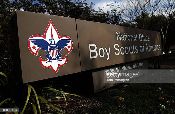 A sign for the National Office outside the Boy Scouts of America Headquarters on February 4 2013 in Irving Texas The BSA national council announced...