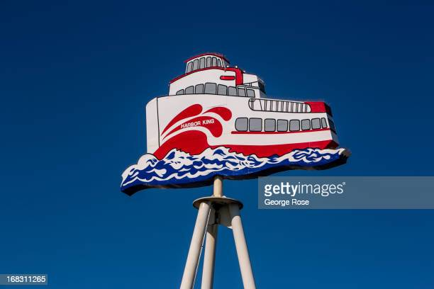 A sign for the Red Fleet bay tour boats at Fisherman's Wharf is viewed on April 15 in San Francisco California Some 136 million international...