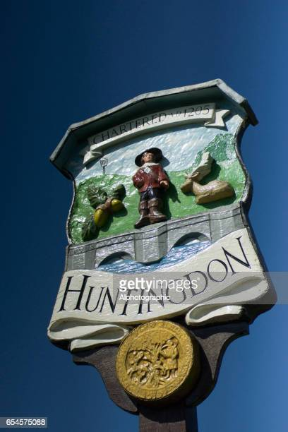 Sign for the Town of Huntingdon