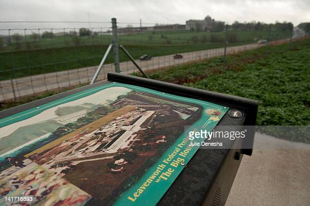 A sign for tourists marks a vista near the United States Penitentiary March 22 2012 in Leavenworth Kansas The United States Penitentiary is a medium...