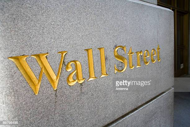 Sign for 'Wall Street', Manhattan, New York City