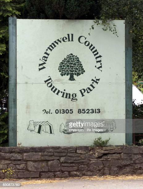 Sign for Warmwell County Touring Park at Crossways near Dorchester Dorset An eightyearold girl has suffered 50 per cent burns when the tent she was...