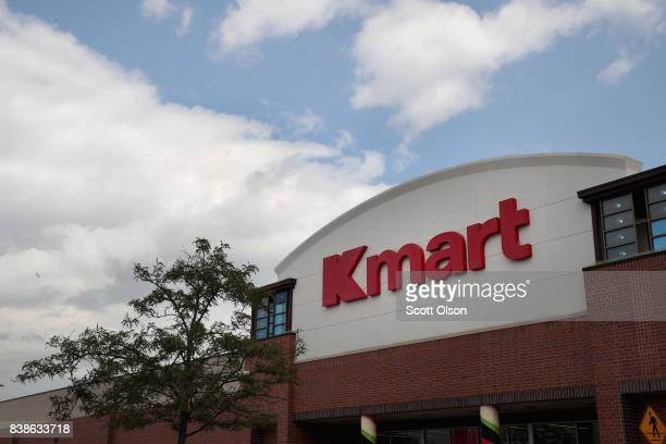 A sign hangs above a Kmart store on August 24 2017 in Elmhurst Illinois Sears Holdings Corporation the owner of Kmart said today it was planning on...