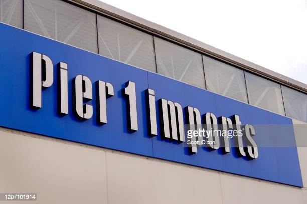 A sign hangs above a Pier 1 imports store that is slated to close on February 18 2020 in Chicago Illinois The struggling retailer announced today...