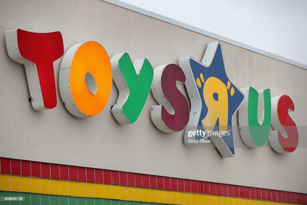 A sign hangs above a Toys 'R' Us store on January 24, 2018 in Highland Park, Illinois. The store is one of more than 180 Toys 'R' Us and Babies 'R' Us stores scheduled to close. The closings involve about one-fifth of the company's Toys 'R' Us and Babies 'R' Us U.S. store fleet. The company recently filed for bankruptcy protection.