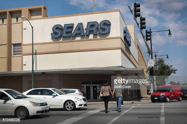 A sign hangs above the 60yearold Sears store slated for closing in the Galewood neighborhood on July 7 2017 in Chicago Illinois When the store closes...