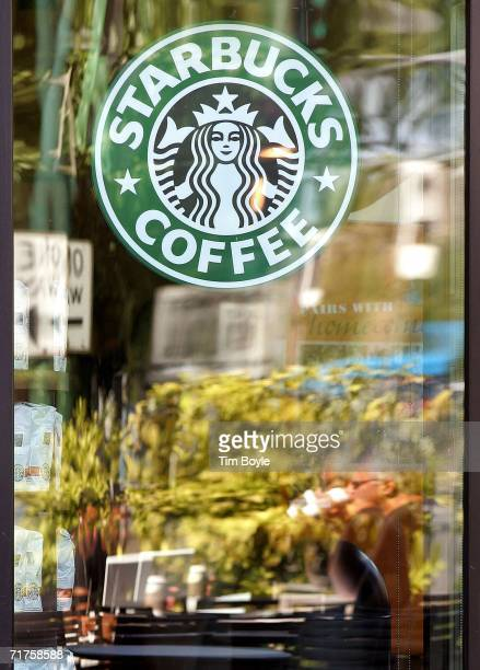 A sign hangs in a Starbucks on Logan Square August 31 2006 in Chicago Illinois A group of workers in the Logan Square Starbucks have reportedly...