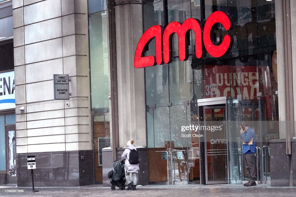 AMC's Stock Is Latest Target For Retail Investors Organized On Reddit Message Boards : News Photo