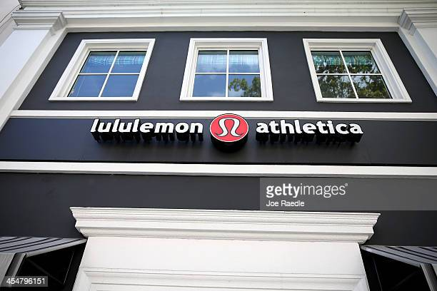 Sign hangs on a Lululemon Athletica on December 10, 2013 in Miami, Florida. Lululemon Athletica, Inc. Named Laurent Potdevin as their new chief...