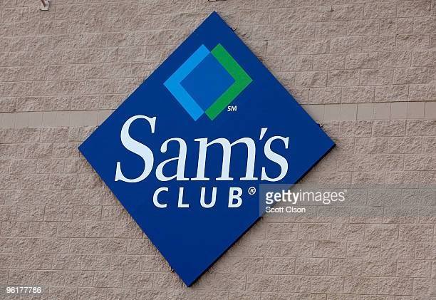 Sign hangs on the side of a Sam's Club store January 12, 2010 in Rolling Meadows, Illinois. Wal-Mart Stores Inc., the parent company of Sam's Club,...
