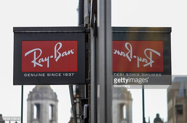 55cece5643e A sign hangs outside a RayBan luxury sunglasses store operated by Luxottica  Group SpA in London