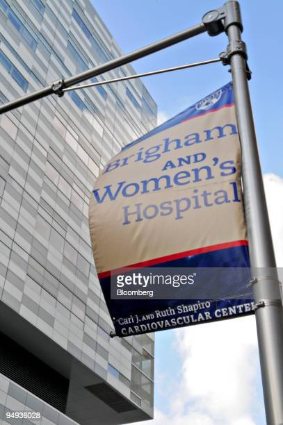 A sign hangs outside the Brigham and Women's Hospital Carl J and Ruth Shapiro Cardiovascular Center in Boston Massachusetts US on Thursday Jan 8 2009...