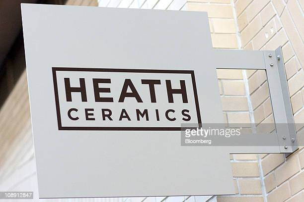 A sign hangs outside the Heath Ceramics Ltd store at the Ferry Building in San Francisco California US on Saturday Feb 5 2011 Robin Petravic and his...