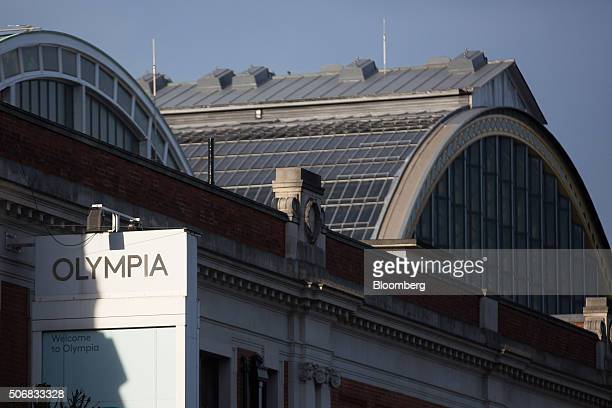 A sign hangs outside the Olympia exhibition center in London UK on Monday Jan 25 2016 Capital Counties Properties Plc the London developer whose main...