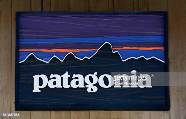A sign hangs over the entrance to the Patagonia outdoor clothing shop in Vail Colorado The retail chain is based in Ventura California