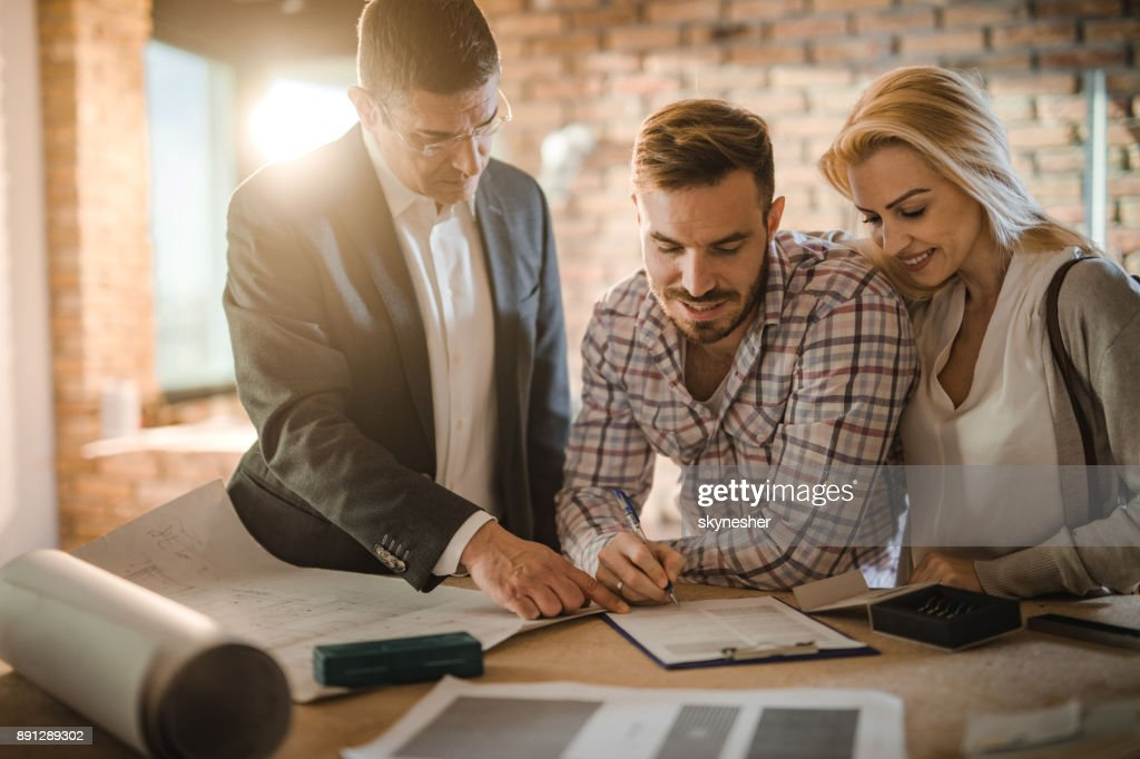 Sign here and the apartment is yours! : Stock Photo