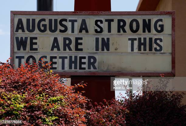 A sign in front of TBonz Augusta on Washington Road reads 'Augusta Strong We Are In This Together' as they are temporarily closed due to the...