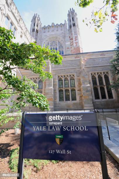 Sign in front of Yale University Law School