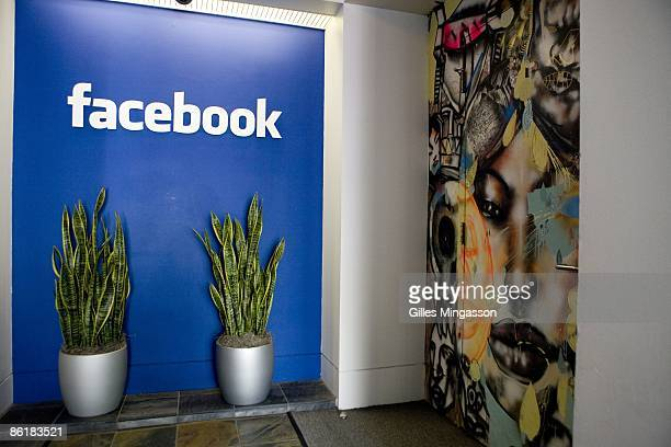 A sign in the lobby indicates the entrance of the Facebook headquarters in Palo Alto March 31 2009 Founded in 2004 Facebook is the 10th most visited...