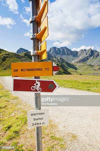 Sign in the Swiss alps summer