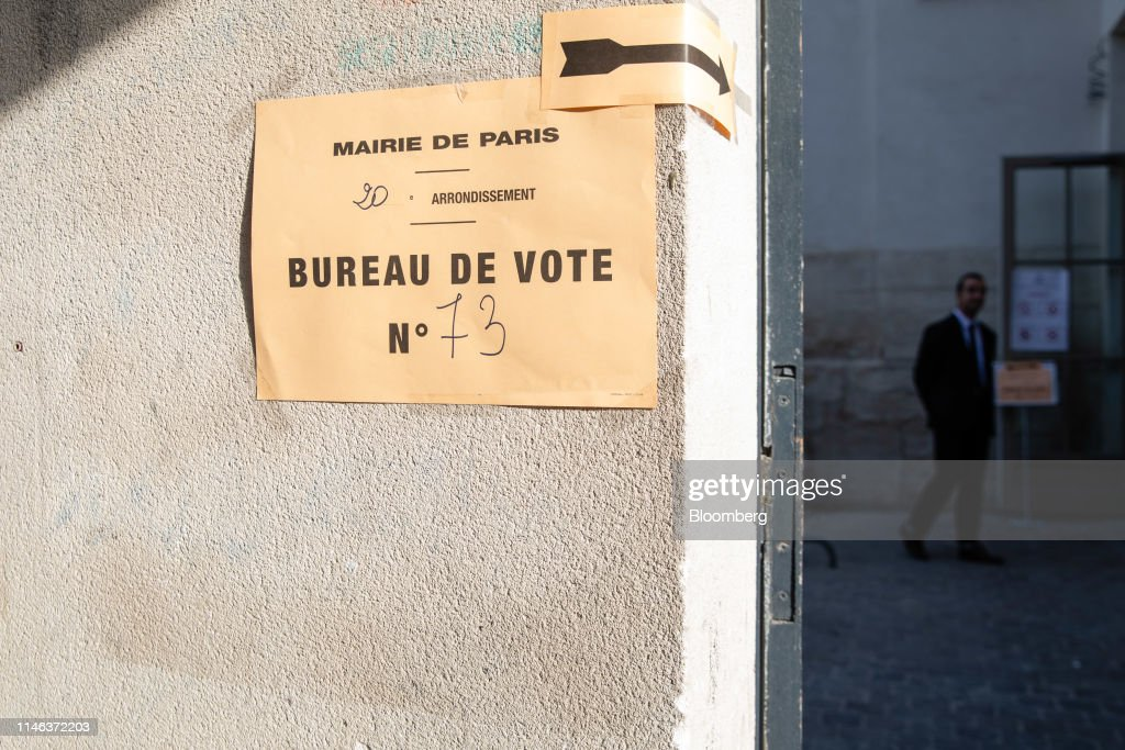 FRA: Voters Head To The Polls For European Parliament  Elections
