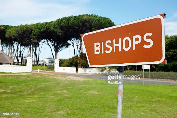 Sign indicating Diocesan College, better known as Bishops, Cape Town