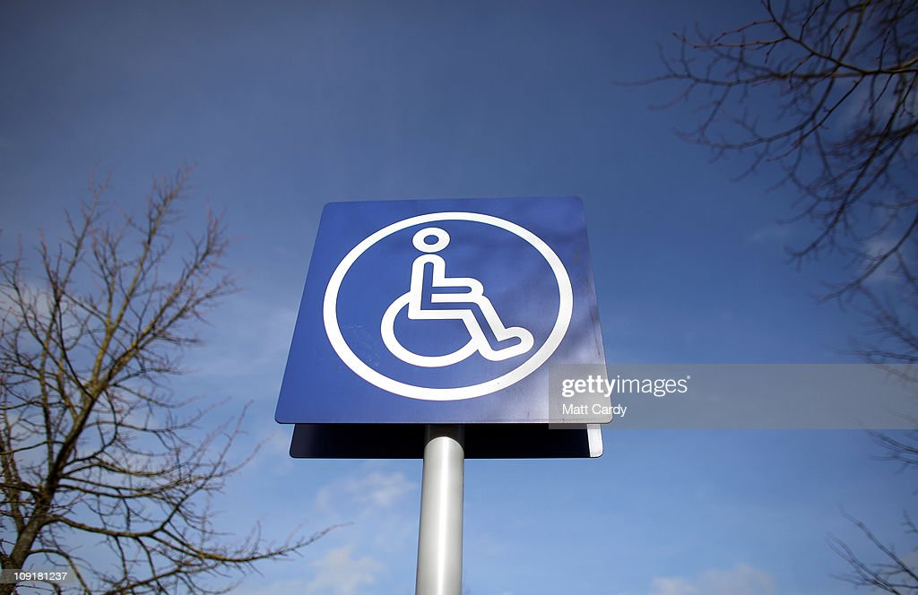 Disabled Parking Signs And Bays : News Photo